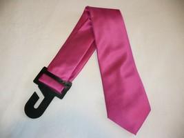 George Men's Neck Tie Solid Pink Dress Tie New - $10.19