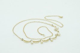 Women's Solid 14k Yellow Gold Fire Opal Diamond Bubble Chest Necklace #2... - $310.00