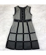 Anna Sui Women's Size 1 Black Gray Shift Dress - $58.39
