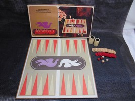 Old Vtg 1975 Selchow & Righter BACKGAMMON Board Game No. 85 COMPLETE Woo... - $29.69