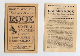 The Games of ROOK Instruction Booklet Dixie Tuxedo Discard Rook and MORE - $24.72