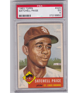 Satchell Paige 1953 Topps #220 Baseball Card Graded PSA 5 EX - $575.00