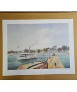 VTG Robert M Rucker Signed /Numbered Print Riverboat Mandeville Bus 2nd ... - $103.35