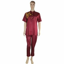 Latest Women Suits Tops Shirt Pant Outfit Two 2 Pieces Set Africa Riche ... - $39.99