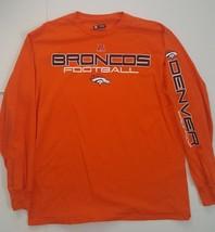 Denver Broncos Long Sleeve Crewneck Graphic T Shirt Size Large - $21.99