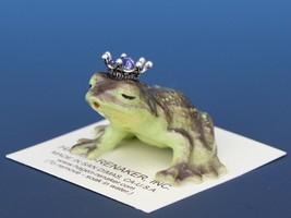 Birthstone Frog Prince Kissing June Alexandrite Miniatures by Hagen-Renaker image 1