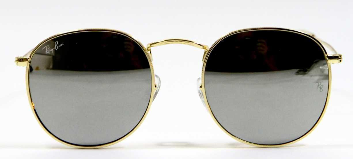 Primary image for Ray Ban 3447 003/32 Classic John Lennon Silver Blue Sunglasses 50mm New Genuine