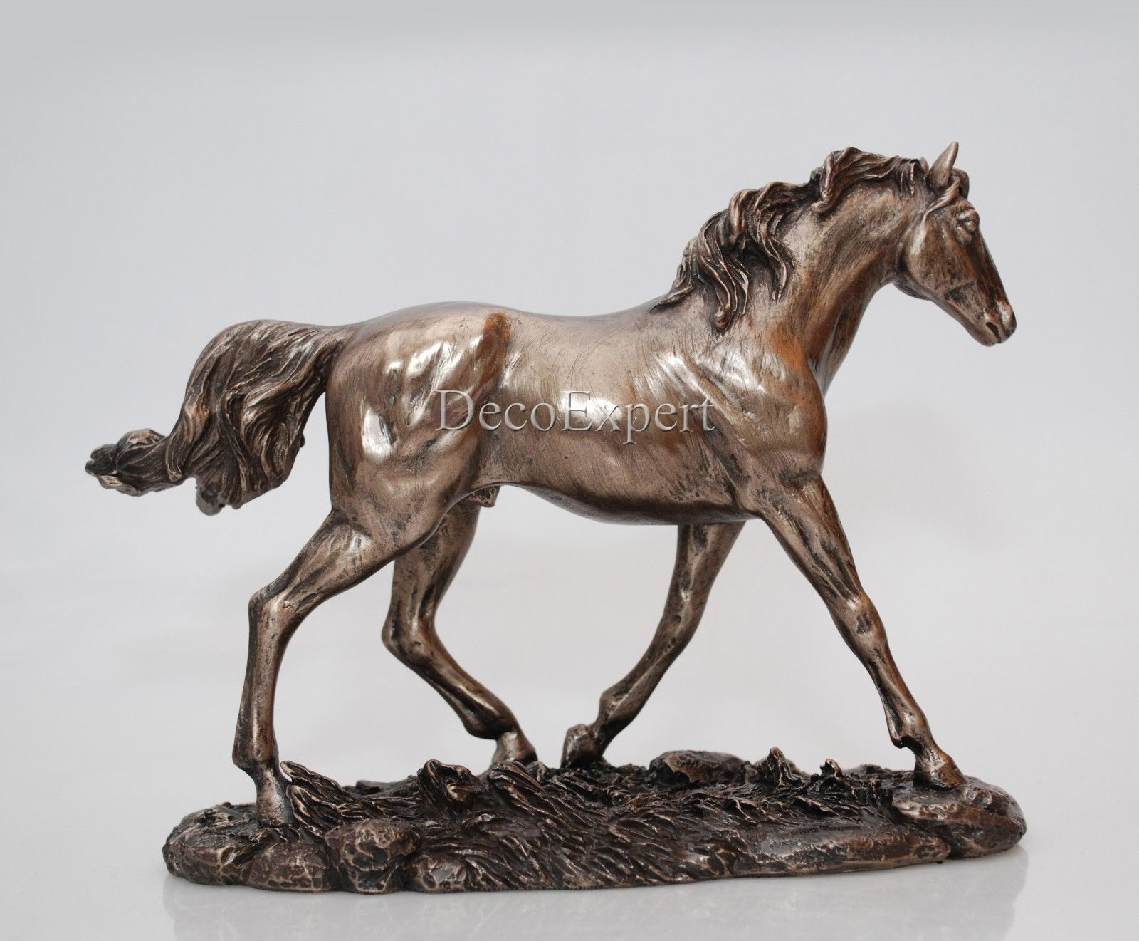 Trot Horse - Horse Figurine - Realistic Bronze * Free Shipping Everywhere *
