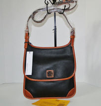 Dooney & Bourke Pebble Leather Black Saddle Crossbody image 11