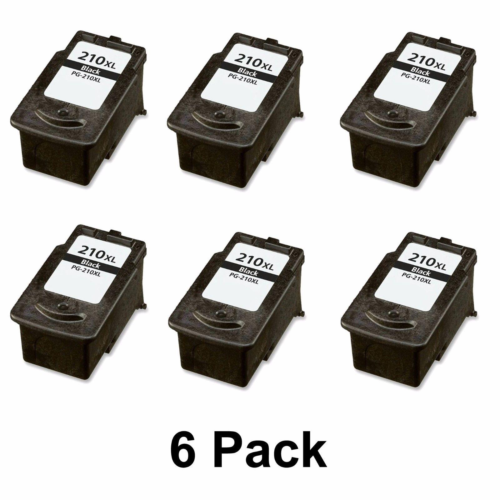6 Canon PIXMA MX420 MX410 MX360 MX350 MX340 MX330 Ink Cartridge 2973B001 PG210XL