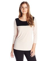 Calvin Klein Women's Top with Mesh Inset Size L - $24.40