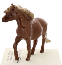 Hagen-Renaker Miniature Ceramic Horse Figurine Chestnut Shetland Pony Mare image 2