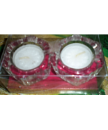 Crystal Bright Twin Tea Light Candle Holder & 2 - 5 Hour tea Light  Candles - $5.00