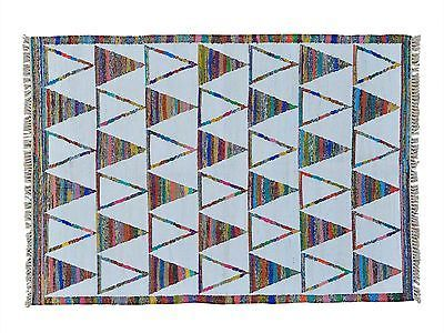 5'x7' Handmade Wool And Sari Silk Flat Weave Durie Kilim Oriental Rug G22854