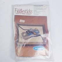 Vintage Needlepoint Fiddlesticks 1982 Romping Around Shoe Yarn Art Wall Art - $9.95