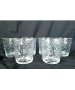 Libbey Textured 16oz Clear Glass Tumblers Pebbled Effect Tea Water Set Of 4 - $52.20