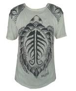 Men T Shirt short sleeve white cotton om turtle tortoise sea animal ocea... - $18.71