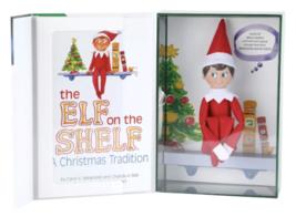 El Elfo On The Estante a Christmas Tradition Azul Ojo Boy Por Chanda Bell Y Caro