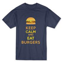 Keep Calm and Eat Burgers Men's Black T-shirt - $11.87+