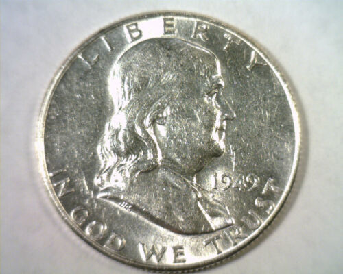 Primary image for 1949 FRANKLIN HALF DOLLAR CHOICE ABOUT UNCIRCULATED+ CH. AU+ NICE ORIGINAL COIN