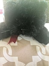 Ty Vintage 1997 Ty Black Cat Laying Red Bow Stuffed Animal Halloween Plush Toy - $38.61
