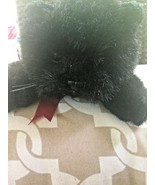 TY VINTAGE 1997 TY BLACK CAT LAYING RED BOW STUFFED ANIMAL HALLOWEEN PLU... - $38.61