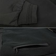 Men's Lightweight Multi Pocket Letterman Varsity Mesh Track Bomber Jacket image 3
