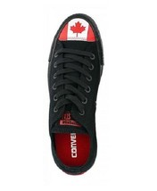 Converse Red White Canadian Flag Leaf Black Ox Low Shoes Red Soles NWT DISC - $54.99