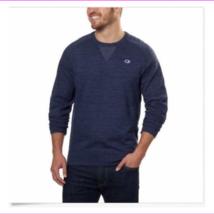 Champion Men's Textured French Terry Crew Sweatshirt Navy M