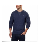 Champion Men's Textured French Terry Crew Sweatshirt Navy M - $9.21