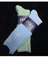 NWT NEW  POLO by RALPH LAUREN Four Pair Mens SOCKS Size 10-13 - $39.82