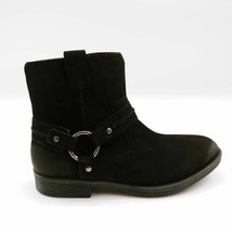 Earth Womens Ash Everglade Ankle Booties Black Leather Buckle Side Zip 7.5W - $44.54