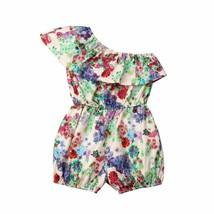 New Arrivels Toddler Kids Baby Girl Floral Off Shoulder Romper Jumpsuit ... - $10.68+