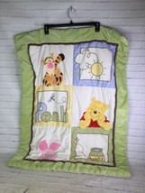 Disney Winnie The Pooh Crib Comforter Baby Blanket Squares Quilt Hunny L... - $59.40