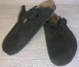 BIRKENSTOCK BETULA Boston Black Suede Closed Toe Mule Clog Sandal 40 US - $39.57