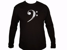 Bass player disressed clef sign sleeved t-shirt Great guitarist bassist ... - $13.99