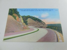 Creeper Lane Section Turnpike Linen Postcard Tichnor Bros WEST VIRGINIA TP-12 - $17.99