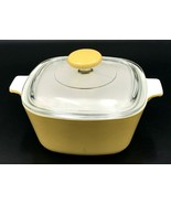 "VTG Corning Ware Harvest Gold Yellow Casserole P 1.75 qt 7"" P-7-C Gold K... - $24.99"