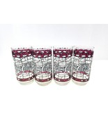 Vintage Coca Cola Hardee's Glasses Stained Glass Theme 16 Oz Drinking Gl... - $26.17