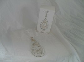 "Jolly Santa Hallmark Keepsake Ornament 5"" Glass Teardrop 2011 by Orville... - $7.91"