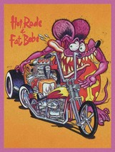 Hot Rods and Fat Bobs Rat Fink Big Daddy Ed Roth Metal Sign - $34.95