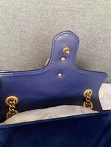 NEW Authentic GUCCI MARMONT MEDIUM ROYAL BLUE VELVET FLAP BAG  image 8