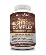 Nutrivein Mushroom Complex Immune System Nootropic Brain Booster Energy ... - $96.99