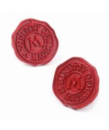 MINISTRY OF MAGIC CUFFLINKS Red Wax Seal Design Harry Potter NEW with Gi... - $8.95