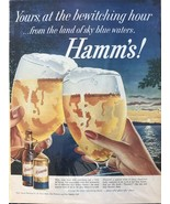Hamm's Beer Print Ad Yours, At The Bewitching Hour 14 X 10 1/2 - $11.01