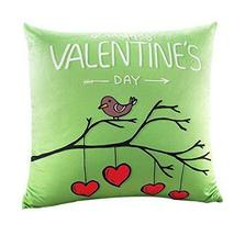 Valentine's Day Gift For Lovers, Square Bird Pattern Green Pillow Use Fo... - £18.03 GBP