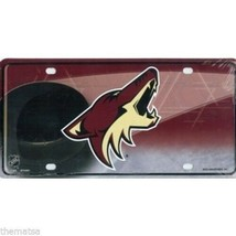 PHOENIX COYOTES TEAM LOGO NHL LICENSE PLATE MADE IN USA - $27.07