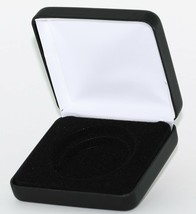 "(1) Black Leatherette Model ""I"" Air-Tite Single Coin Holder Display Box ... - $7.95"