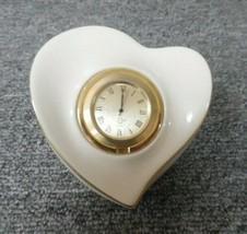 Vintage LENOX Porcelain Heart Clock - $19.80