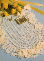 Oval Grade A Impressive Pineapple Doily Whirl Table Centerpiece Crochet ... - $7.99